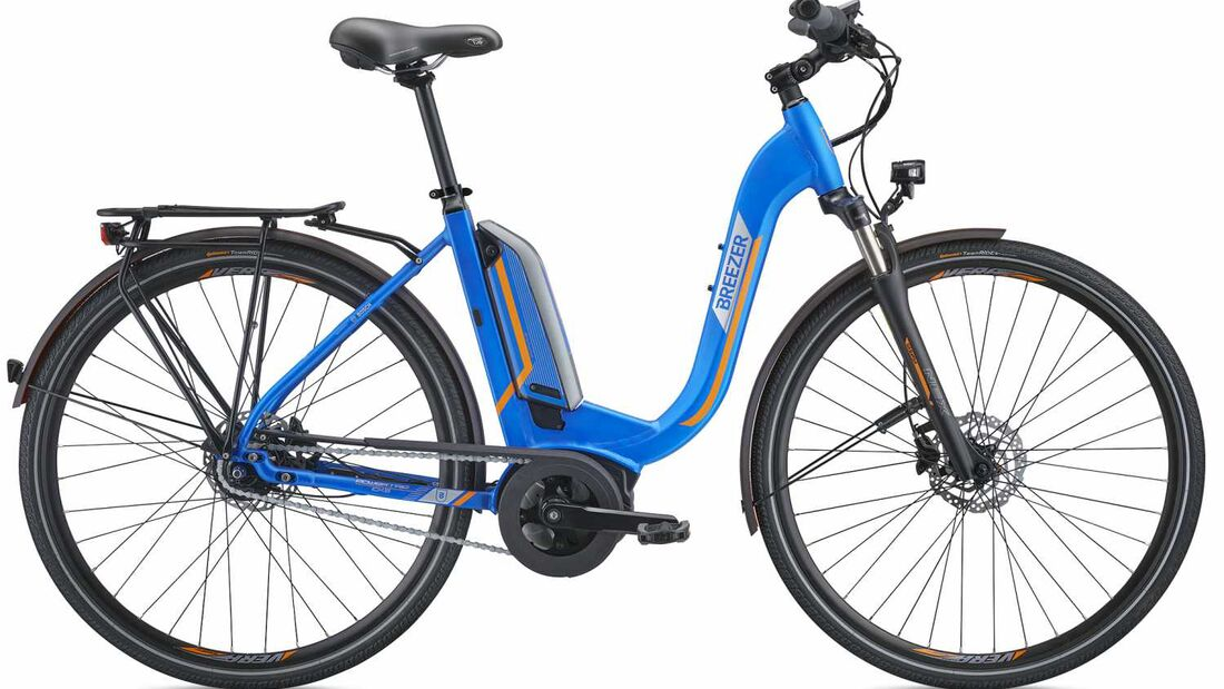 UB Breezer Powertrip Trekking-e-Bike Tief