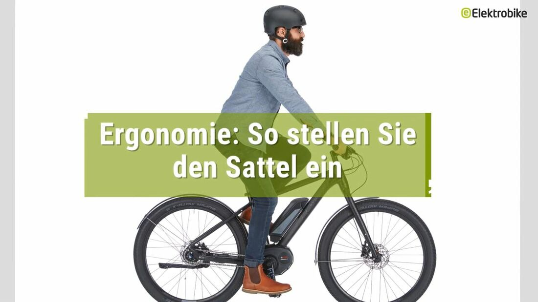 UB Elektrobike Sattelposition Ergonomie Video